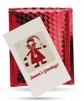 Kerstkaars kaart met houder