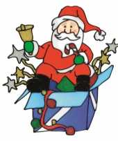 Kerstman raamsticker