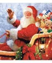 Kerstman servetten