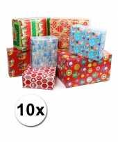 Kerstmis kadopapier 10 rollen