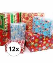 Kerstmis kadopapier 12 rollen