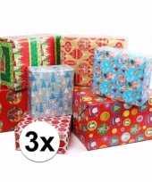 Kerstmis kadopapier 3 rollen
