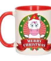 Kerstmis mok beker eenhoorn 300 ml