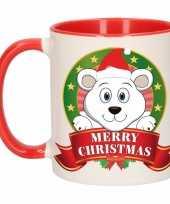 Kerstmis mok beker ijsbeer 300 ml