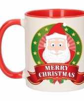 Kerstmis mok beker kerstman 300 ml