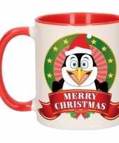 Kerstmis mok beker pinguin 300 ml
