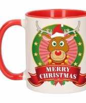 Kerstmis mok beker rudolf rendier 300 ml