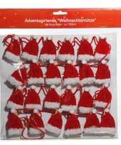 Kerstmuts adventkalender 180 cm