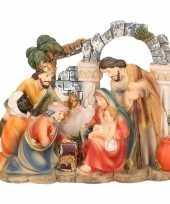 Kerststal beeldje met de 3 wijzen 14 cm
