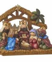 Kerststallen met kerstfiguren 20 cm