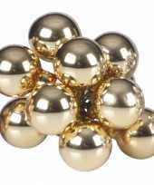 Kerststukjes kerstballen goud 10 stuks