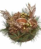 Kersttafel stukje goud 25 cm