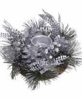 Kersttafel stukje zilver 25 cm