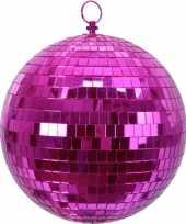 Kerstversiering kerstdecoratie roze decoratie disco kerstballen 20 cm