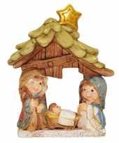 Kinderkamer kinder kerststalletje 9 x 12 cm