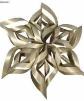 Knutsel setje gouden kerstster