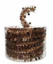 Koper bruine kerstboom folie slinger met ster 700 cm