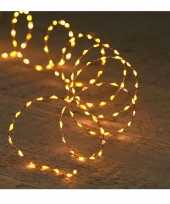 Koper kerst verlichting met timer warm wit 5 meter