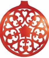 Rode kerstbal hangdecoratie 32 cm