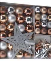 Royal classics kerstboomdecoratie 45 delig brons zilver goud
