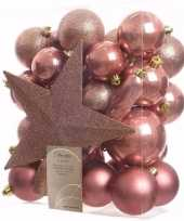 Sweet christmas kerstboom decoratie set 33 delig 10097510