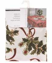 Tafellaken kerstprint wit 130cm 10074536