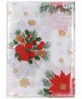 Tafellaken kerststukjesprint wit 180cm