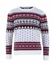 Witte kersttrui voor volwassenen nordic print