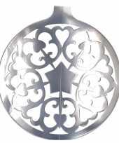 Zilveren kerstbal hangdecoratie 49 cm