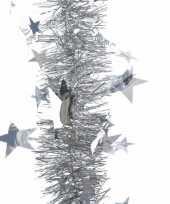 Zilveren kerstboomslinger 270 cm 10082691